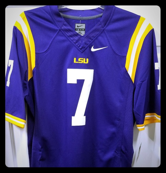 hot sale online 64a94 c4f62 Nike Limited Sewn LSU TIGERS 7 Fournette Jersey NWT